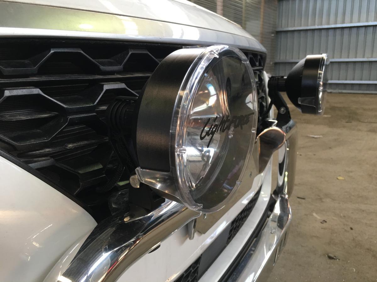 Santa Fe 2018 Lightforce 170 Striker Driving Lights