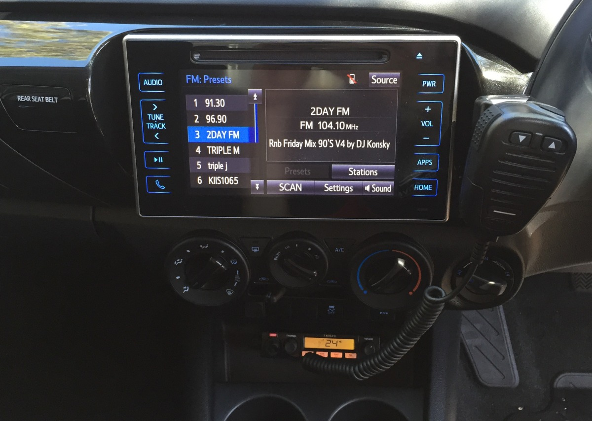 HiLux 2016 GME TX3520W UHF CB Radio | Creative Installations