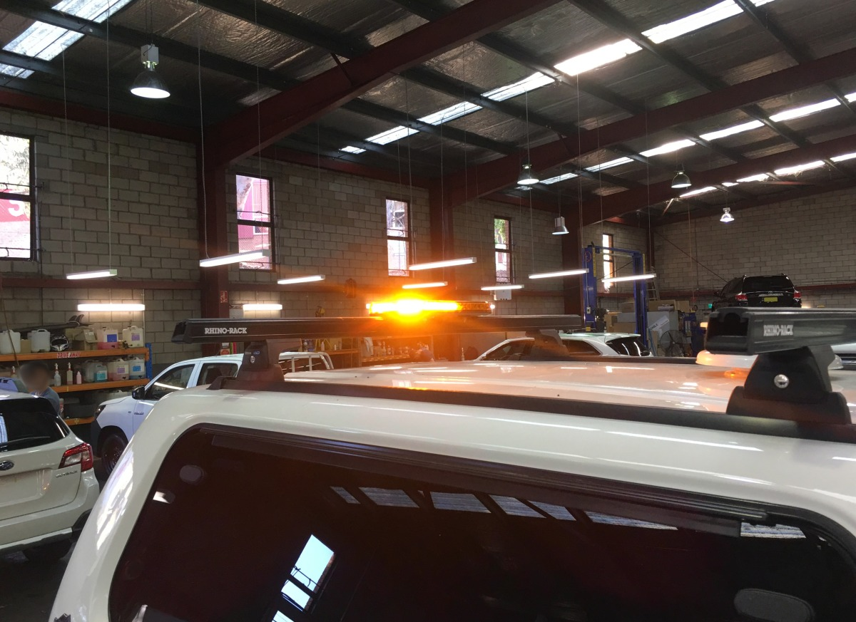 Best Used Family Car >> HiLux 2017 Narva 85014A Aeromax LED Warning Light Bar on Canopy Roof Rack | Creative Installations