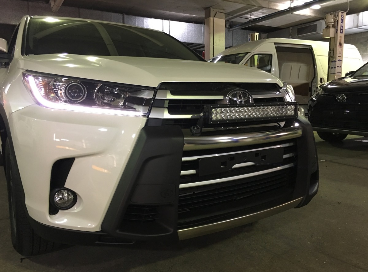 "2017 Toyota Highlander Accessories >> Kluger 2017 DB Link 22"" Off Road Dual Row LED Light Bar on ..."