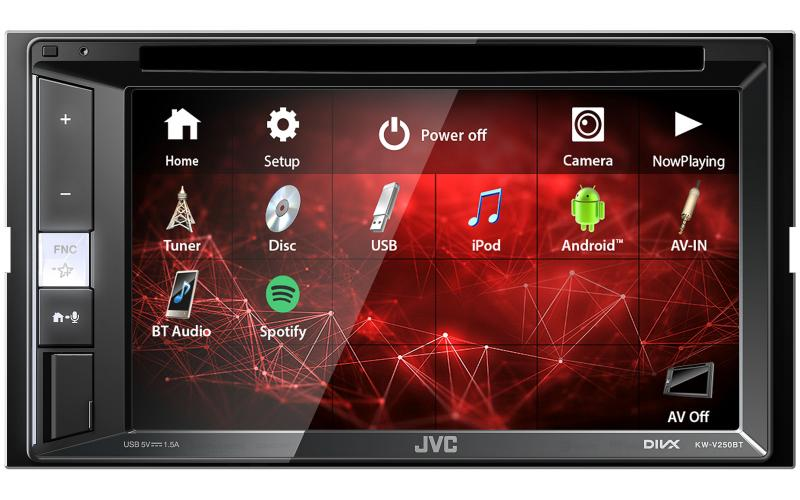 JVC KW-V250BT Spotify Car Radio