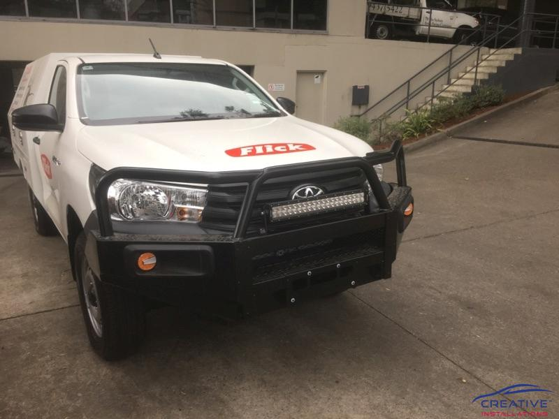 Db link 22 off road dual row led light bar creative installations hilux led light bar mozeypictures Choice Image