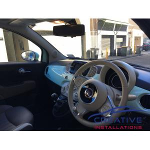 Fiat 500 reverse mirror camera