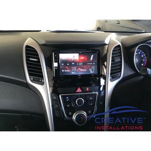 i30 JVC KW-V250BT Car Stereo