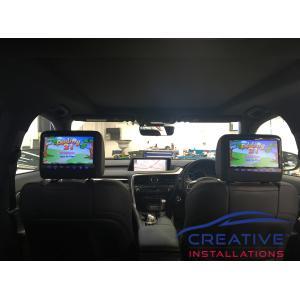 RX 350 Headrest DVD Players