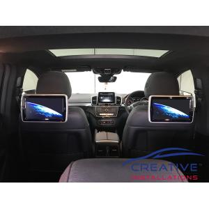 GLE63 Headrest DVD Players