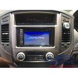 Pajero Alpine INE-W960A GPS Navigation System
