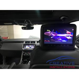 Range Rover Headrest DVD Players