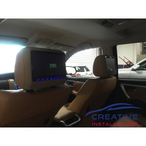 Fortuner Headrest DVD Players