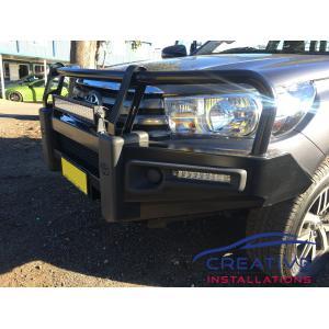 Toyota hilux portfolio creative installations hilux db link 22 led light bar mozeypictures Choice Image