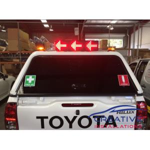 HiLux Code 3 M5 LED Message Board on Canopy
