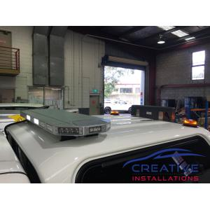 HiLux LED Amber Beacons on Canopy