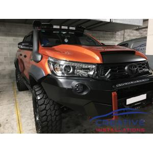 HiLux Rugged X Bull Bar Front Parking Sensors