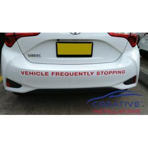 Yaris Reverse Parking Sensors
